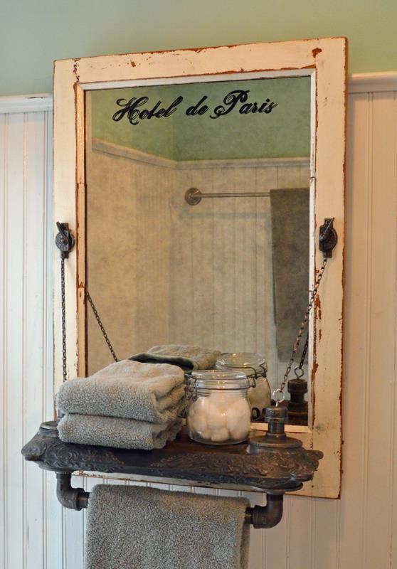 Reclaimed-Wood-Bath-Towel-Rack-with-Mirror-using-Vintage-Radiator