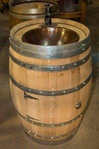 Real Whiskey Barrel Sink