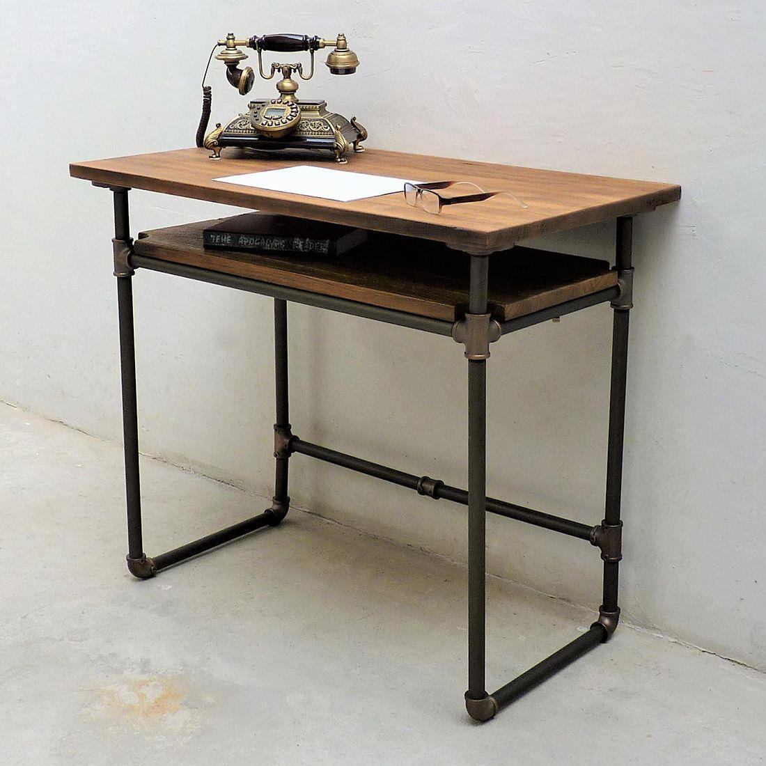 Berkeley Industrial Mid-Century Desk
