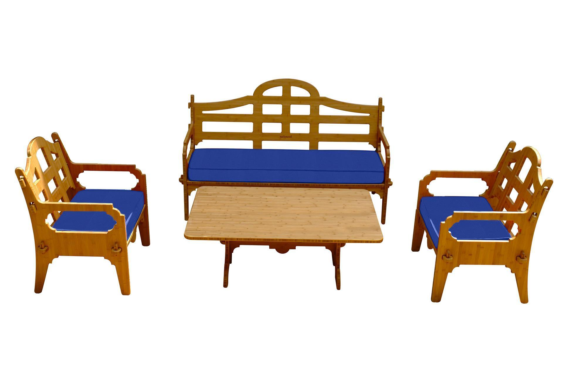 Wedgewood 4 Piece Bamboo Sofa Set
