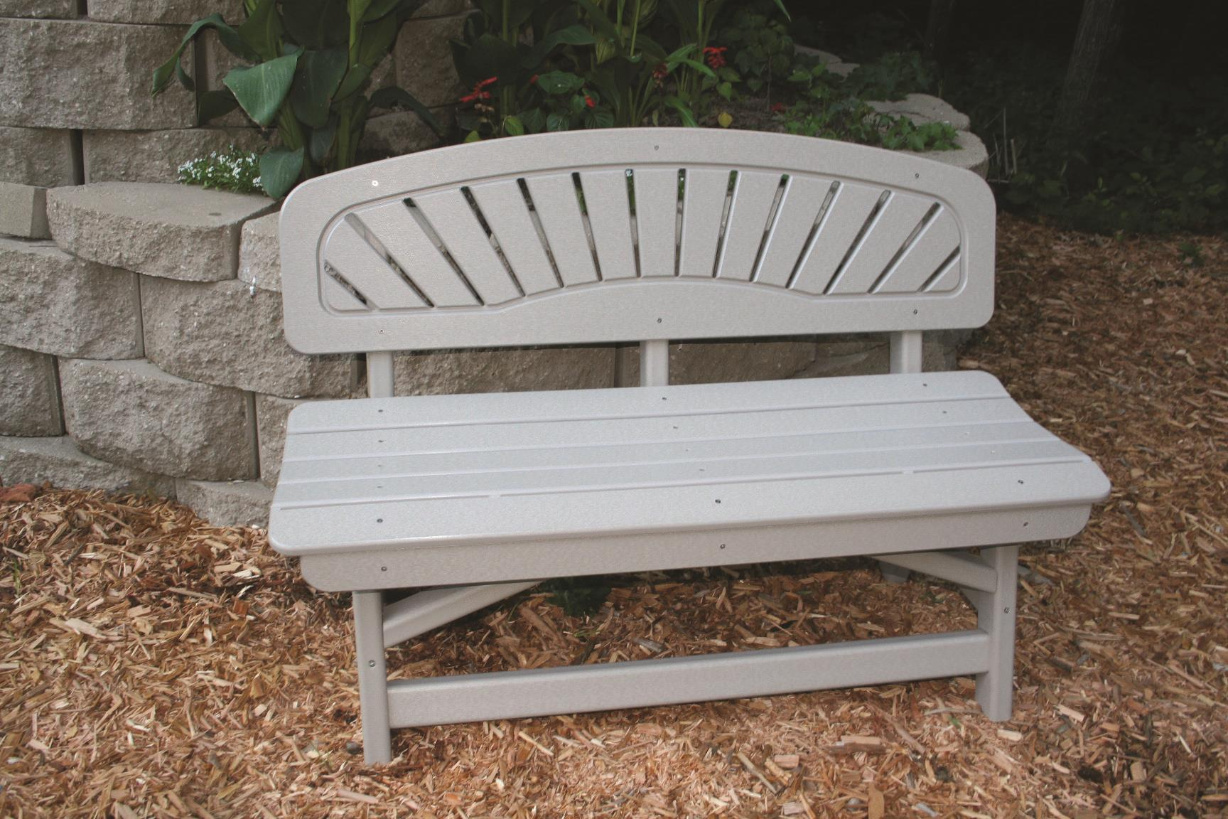 Recycled Poly Outdoor Furniture Classic Bench