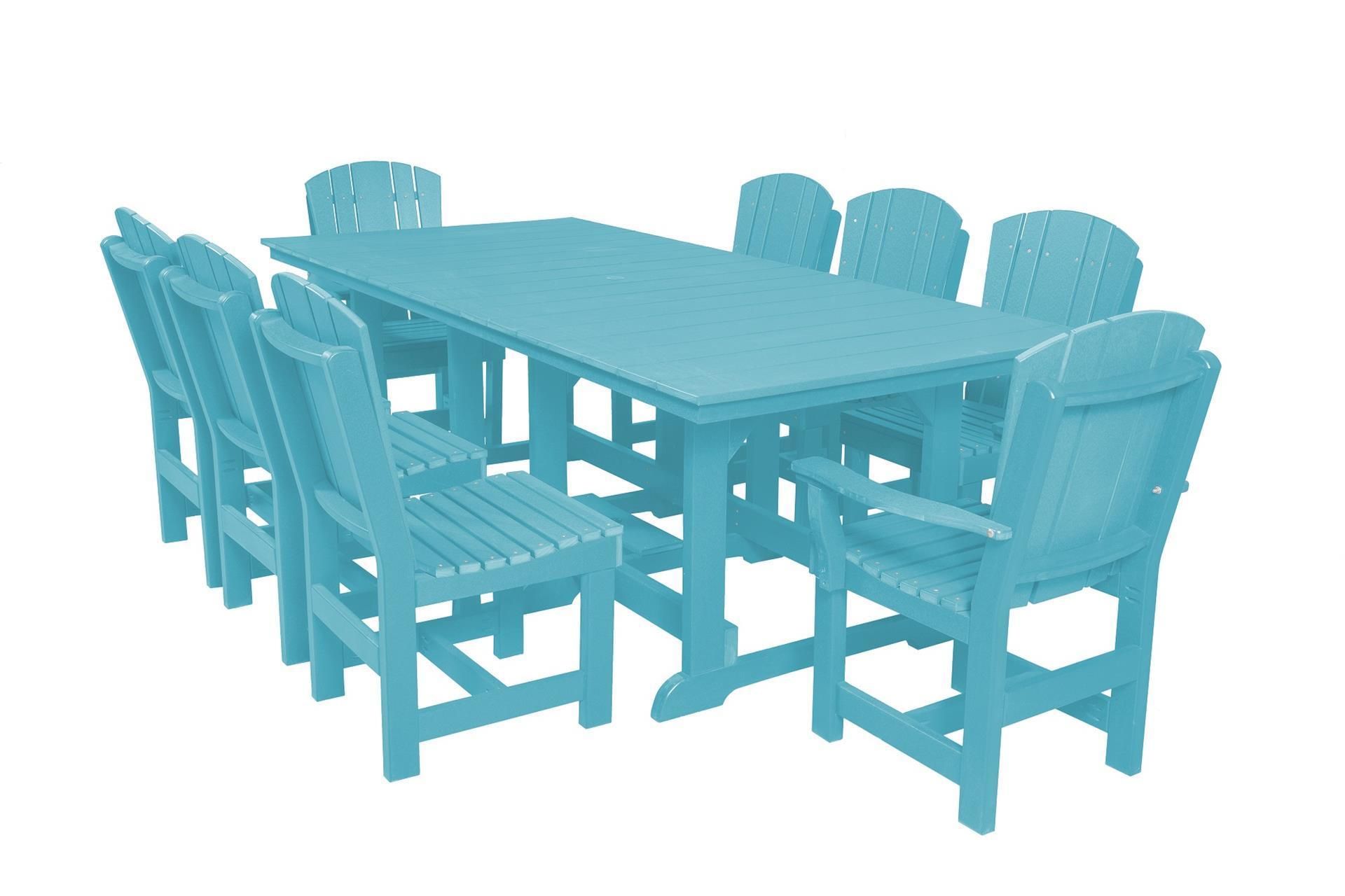 Outdoor Poly Dining Set with 8 Dining Chairs from Eco Friendly Digs