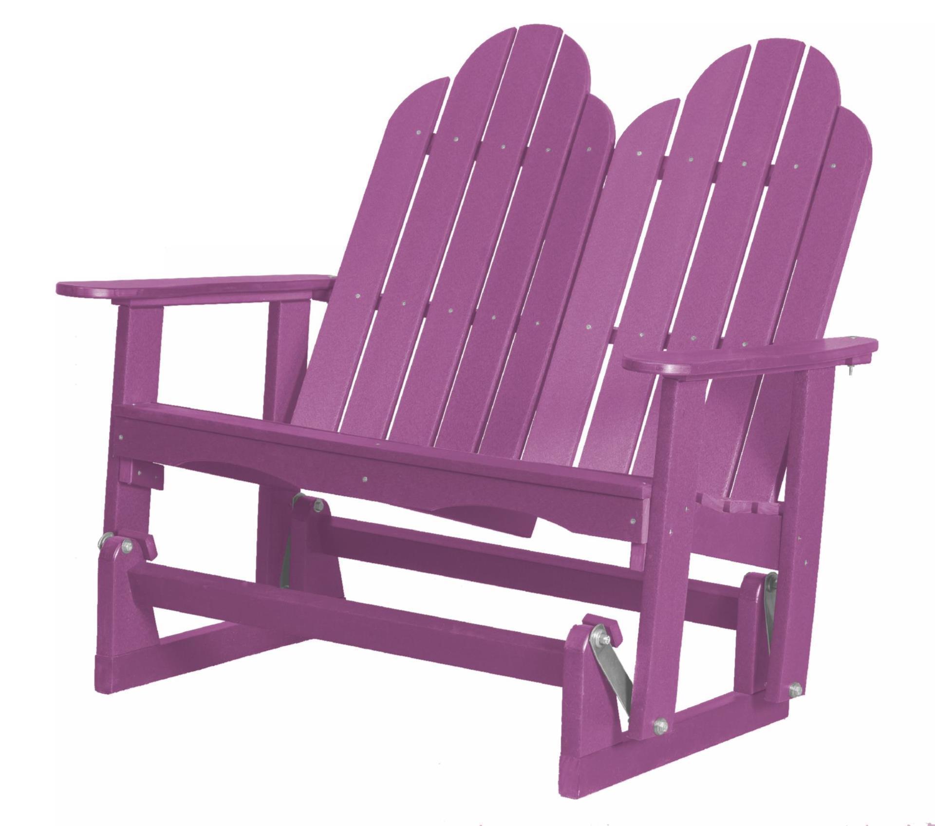 Outdoor Poly Furniture Adirondack Glider