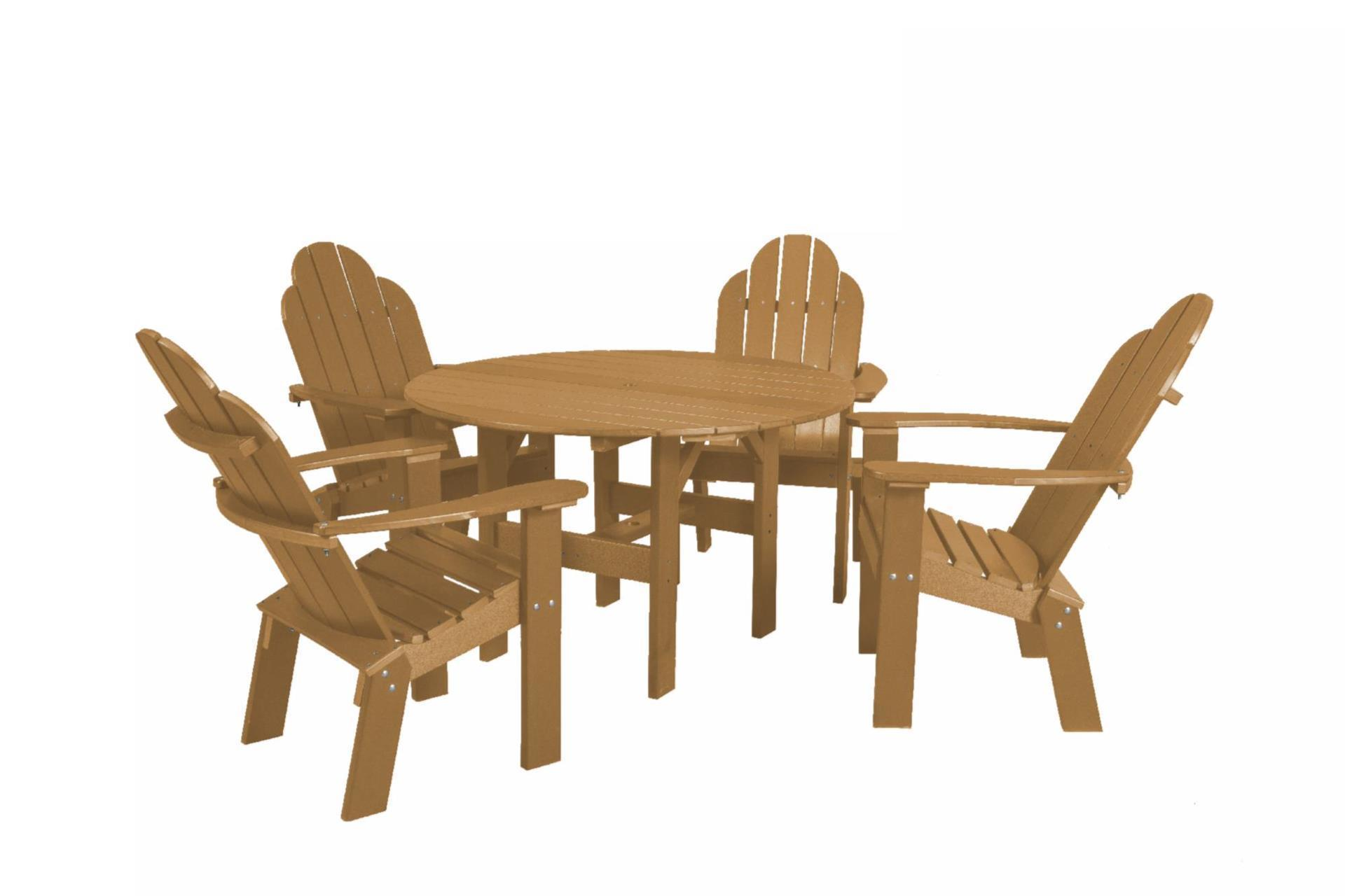Eco Poly Outdoor Dining Set 46 Round Table With 4 Chairs