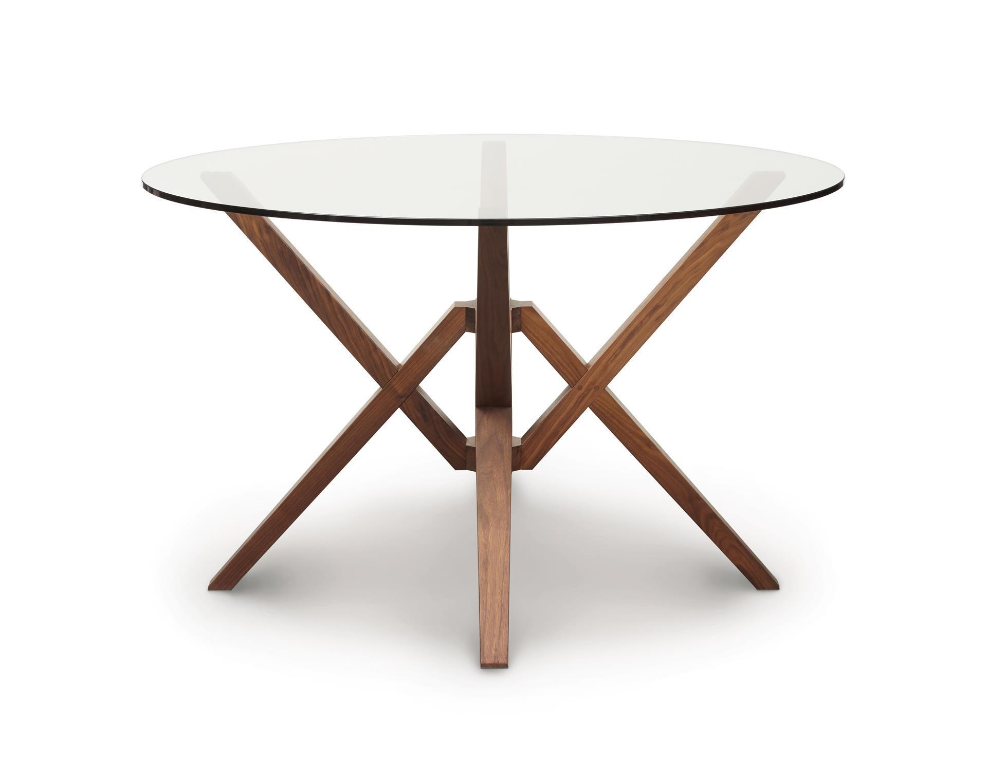 Copeland exeter round glass top dining table