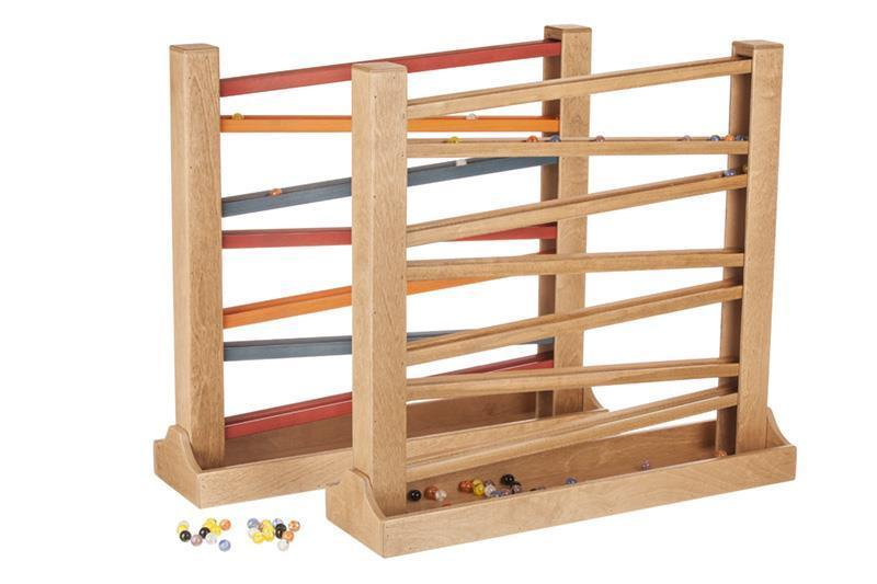 Wooden Toy Marble Roller
