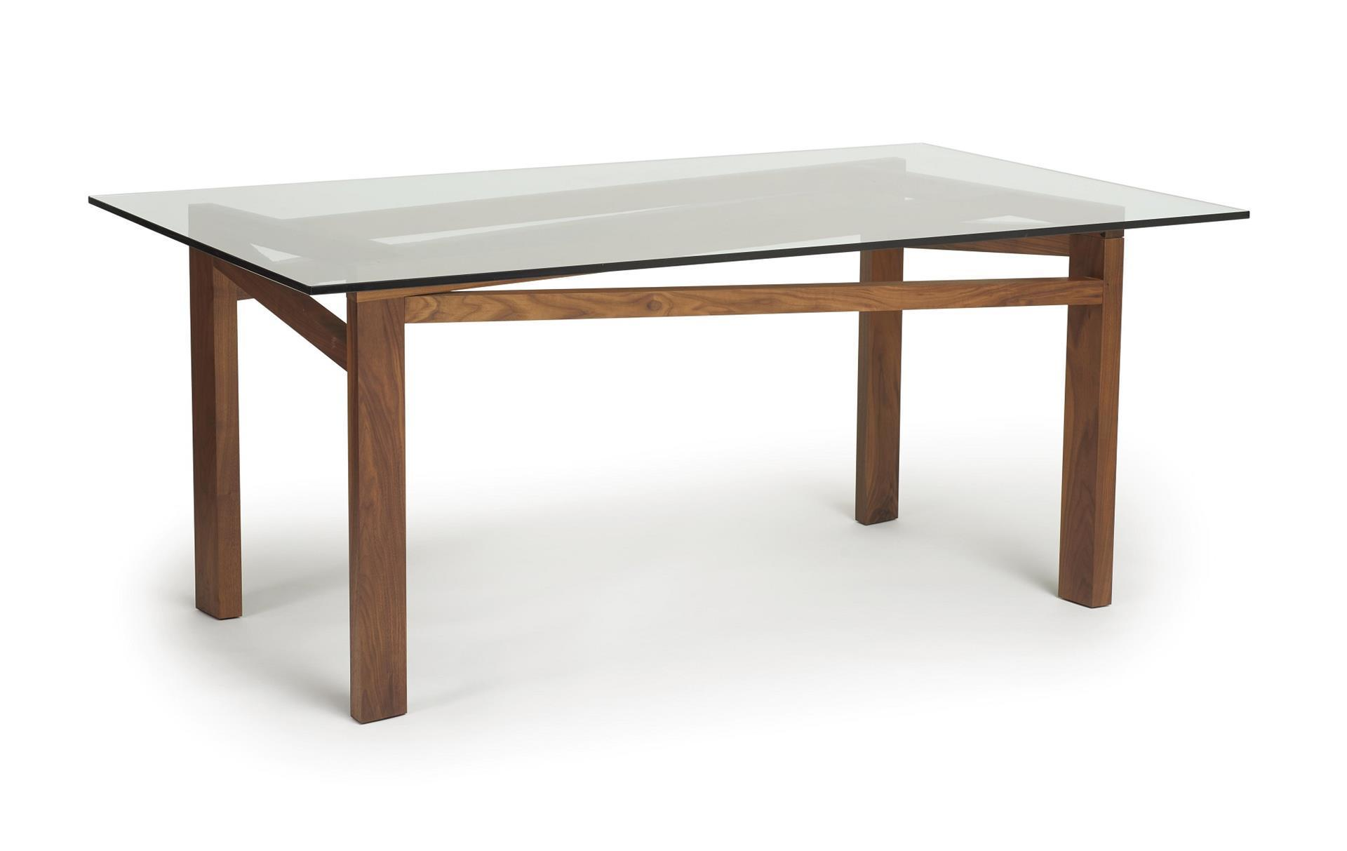 Copeland glide planes glass top dining table