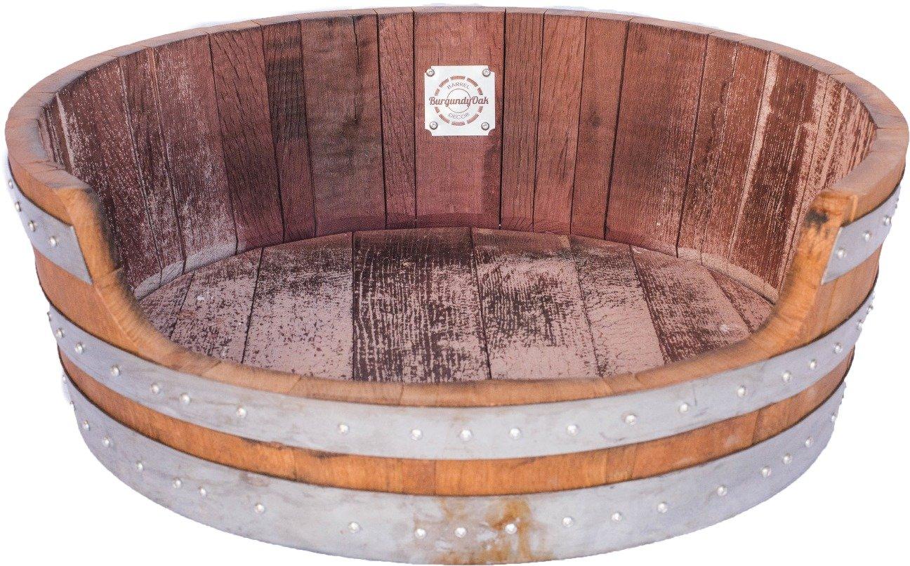 Handcrafted Wine Barrel Pet Bed